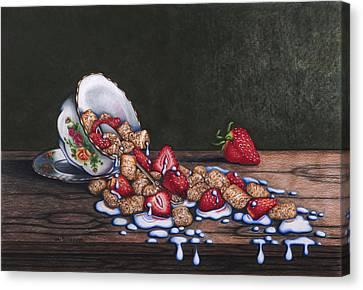 Spilt Milk Canvas Print