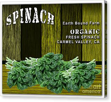 Vegetables Canvas Print - Spinach Patch by Marvin Blaine