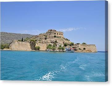 Turquois Water Canvas Print - Spinalonga Island Crete Greece by Matthias Hauser