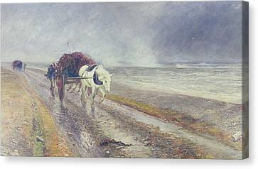 Spindrift Canvas Print by John MacWhirter