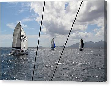 Spinnakers In The Seychelles Canvas Print