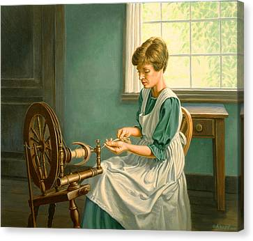 Spinning At The Homestead Canvas Print by Paul Krapf