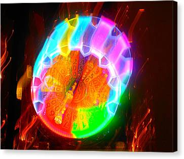 Spinning Orb In The Cosmos Canvas Print by James Welch