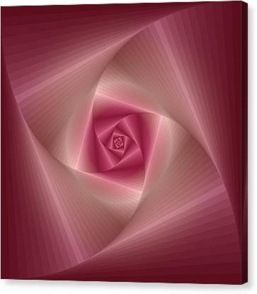 Spinning Squares Rose Pink Canvas Print by Ym Chin