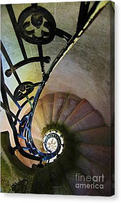 Spinning Stairway Canvas Print by Carlos Caetano