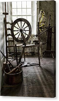 Knitting Canvas Print - Spinning Wheel by Peter Chilelli