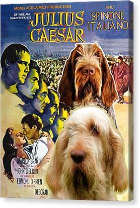 Spinone Canvas Print - Spinone Italiano - Italian Spinone Art Canvas Print - Julius Caesar Movie Poster by Sandra Sij