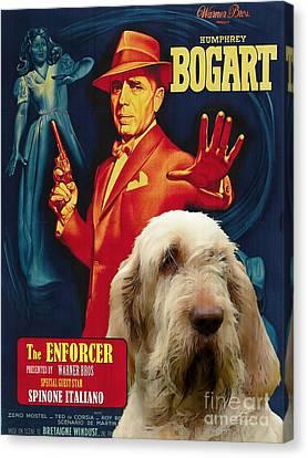 Spinone Canvas Print - Spinone Italiano - Italian Spinone Art Canvas Print - The Enforcer Movie Poster by Sandra Sij
