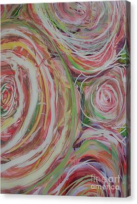 Spiral Bouquet Canvas Print by Anna Skaradzinska