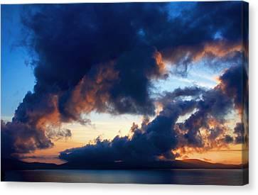 Spiral Clouds Canvas Print by Aidan Moran