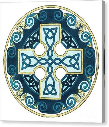 Spiral Cross Canvas Print by Cari Buziak