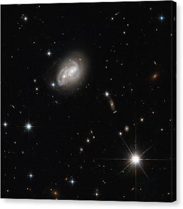 Spiral Galaxies Interacting Canvas Print