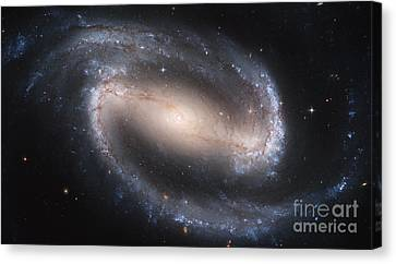 Spiral Galaxy Ngc 1300 Canvas Print by Science Source