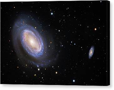 Spiral Galaxy Ngc 4725 Canvas Print by Robert Gendler