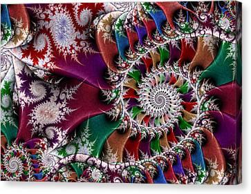 Spiral Mosaic Canvas Print