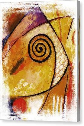 Spiral Rough Canvas Print by Lutz Baar