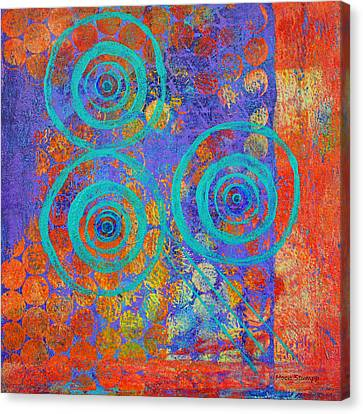 Spiral Series - Inroads Canvas Print by Moon Stumpp