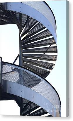 Spiral Staircase Canvas Print by Bernard Jaubert