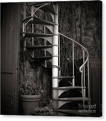 Spiral Staircase Canvas Print by Charmian Vistaunet