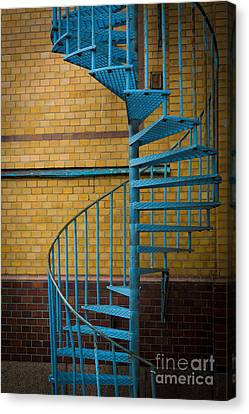 Spiral Staircase Canvas Print by Inge Johnsson