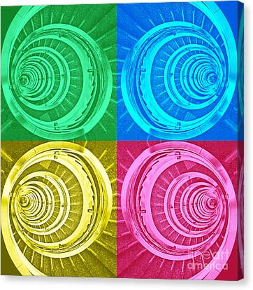 Spiral Staircase - Pop Art Composition Canvas Print by Carlos Alkmin