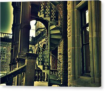 Spiral Staircase Canvas Print by Salman Ravish