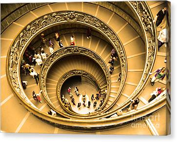 Spiral Staircase Canvas Print by Stefano Senise