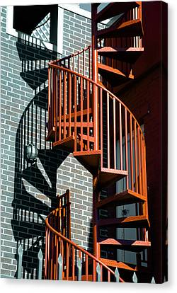 Spiral Stairs - Color Canvas Print by Darryl Dalton