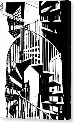 Spiral Stairs Canvas Print by Darryl Dalton