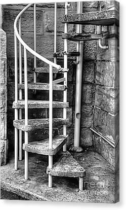Spiral Steps - Old Sandstone Church Canvas Print by Kaye Menner