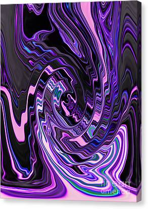 Blending Canvas Print - Spiral Swirl Of Purple Lavender Violet And Blue Abstract Design by Adri Turner