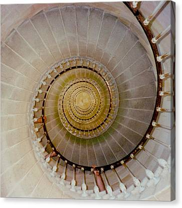 Spirale Du Phare Des Baleines Version Carree Canvas Print