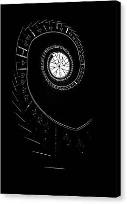 Spirals In The Dark Canvas Print by Jaroslaw Blaminsky