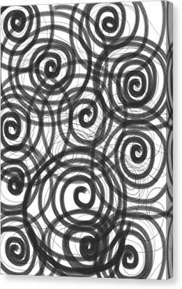 Spirals Of Love Canvas Print
