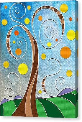 Spiralscape Canvas Print