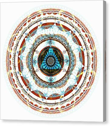 Hinduism Canvas Print - Spirit Circle by Anastasiya Malakhova