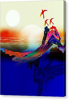 Spirit Flight Canvas Print by Bruce Manaka