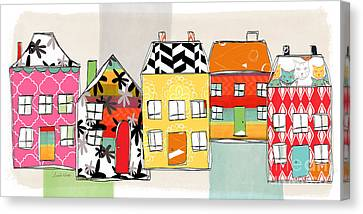 Houses Canvas Print - Spirit House Row by Linda Woods