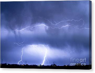 Lightning Decorations Canvas Print - Spirit In The Sky by James BO  Insogna