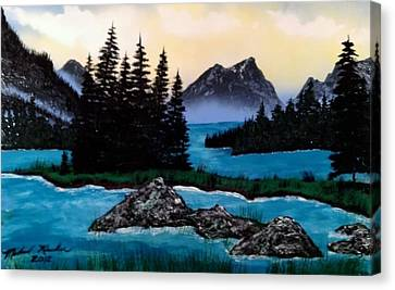 Canvas Print featuring the painting Spirit Island by Michael Rucker