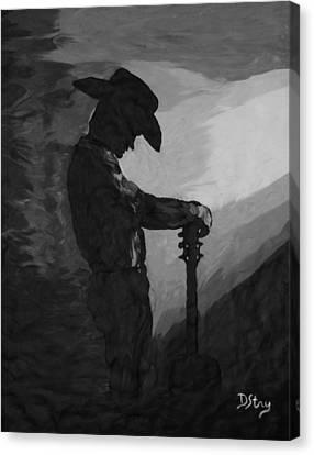 Spirit Of A Cowboy Canvas Print