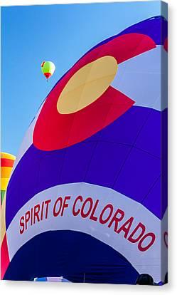 Spirit Of Colorado Proud Canvas Print by Teri Virbickis