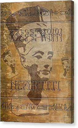 Spirit Of Nefertiti Egyptian Queen   Canvas Print by Georgeta Blanaru