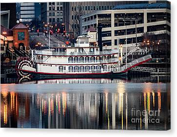 Spirit Of Peoria Riverboat Canvas Print by Paul Velgos