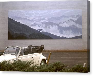 Spirit Of The Air Shown With Car Canvas Print by Blue Sky