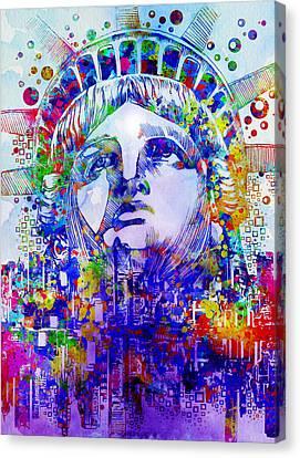 Spirit Of The City 2 Canvas Print by Bekim Art