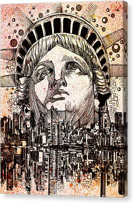 Spirit Of The City 3 Canvas Print by Bekim Art