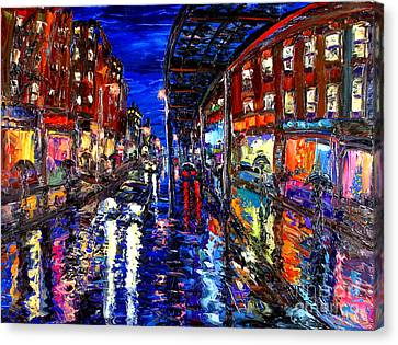 Pallet Knife Canvas Print - Spirit Of The City by Arthur Robins