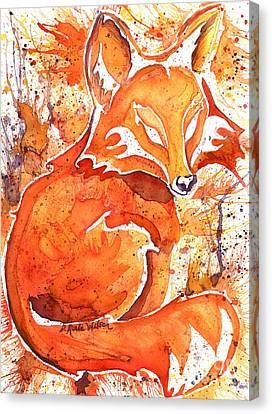 Spirit Of The Fox Canvas Print