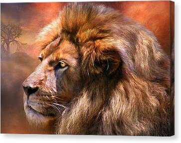 Spirit Of The Lion Canvas Print by Carol Cavalaris